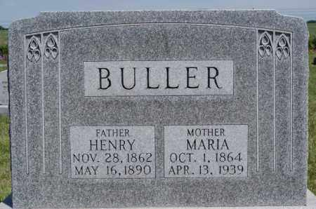 BULLER, MARIA - Turner County, South Dakota   MARIA BULLER - South Dakota Gravestone Photos