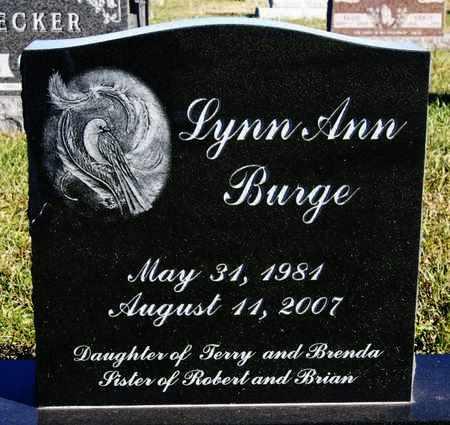 BURGE, LYNN ANN - Turner County, South Dakota | LYNN ANN BURGE - South Dakota Gravestone Photos