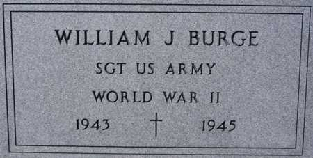 BURGE, WILLIAM J (WWII) - Turner County, South Dakota | WILLIAM J (WWII) BURGE - South Dakota Gravestone Photos