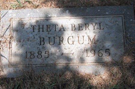 BURGUM, THETA BERYL - Turner County, South Dakota | THETA BERYL BURGUM - South Dakota Gravestone Photos