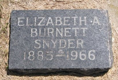 SNYDER BURNETT, ELIZABETH A. - Turner County, South Dakota | ELIZABETH A. SNYDER BURNETT - South Dakota Gravestone Photos