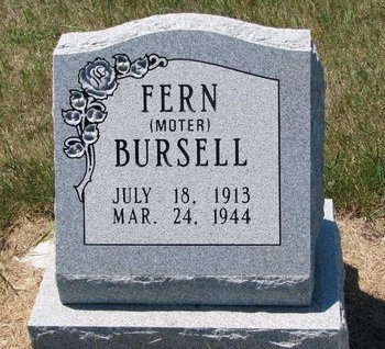 BURSELL, FERN - Turner County, South Dakota | FERN BURSELL - South Dakota Gravestone Photos