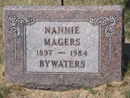 MAGERS BYWATERS, NANNIE - Turner County, South Dakota | NANNIE MAGERS BYWATERS - South Dakota Gravestone Photos