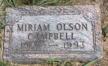 CAMPBELL, MIRIAM - Turner County, South Dakota | MIRIAM CAMPBELL - South Dakota Gravestone Photos