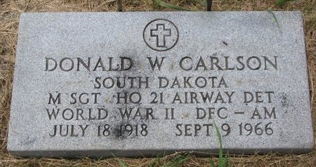 CARLSON, DONALD W. (MILITARY) - Turner County, South Dakota | DONALD W. (MILITARY) CARLSON - South Dakota Gravestone Photos