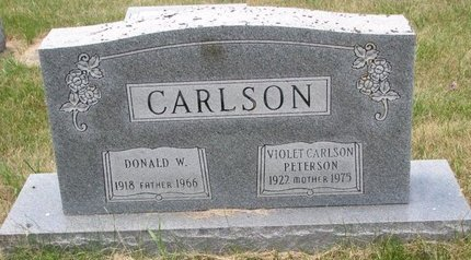 PETERSON CARLSON, VIOLET - Turner County, South Dakota | VIOLET PETERSON CARLSON - South Dakota Gravestone Photos