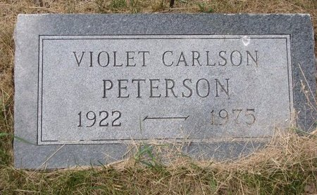 CARLSON, VIOLET (FOOTSTONE) - Turner County, South Dakota | VIOLET (FOOTSTONE) CARLSON - South Dakota Gravestone Photos