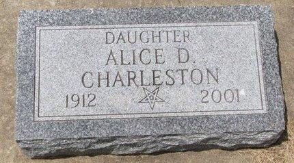 CHARLESTON, ALICE D. - Turner County, South Dakota | ALICE D. CHARLESTON - South Dakota Gravestone Photos