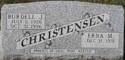 CHRISTENSEN, BURDELL J - Turner County, South Dakota | BURDELL J CHRISTENSEN - South Dakota Gravestone Photos