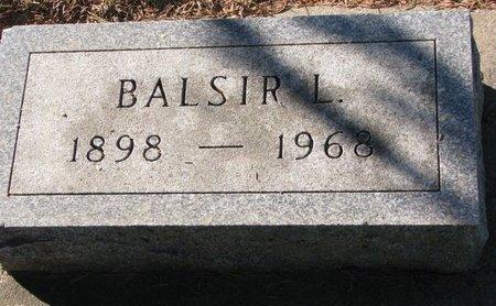 CHRISTENSEN, BALSIR L. - Turner County, South Dakota   BALSIR L. CHRISTENSEN - South Dakota Gravestone Photos