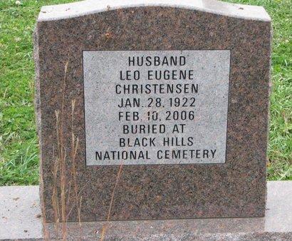 CHRISTENSEN, LEO EUGENE (CENOTAPH) - Turner County, South Dakota | LEO EUGENE (CENOTAPH) CHRISTENSEN - South Dakota Gravestone Photos