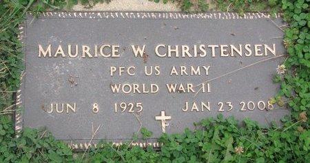 CHRISTENSEN, MAURICE W. (MILITARY) - Turner County, South Dakota | MAURICE W. (MILITARY) CHRISTENSEN - South Dakota Gravestone Photos
