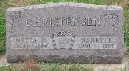 CHRISTENSEN, HENRY E. - Turner County, South Dakota | HENRY E. CHRISTENSEN - South Dakota Gravestone Photos