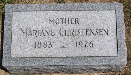 CHRISTENSEN, MARIANE - Turner County, South Dakota | MARIANE CHRISTENSEN - South Dakota Gravestone Photos