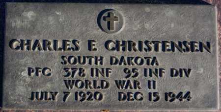 CHRISTENSEN, CHARLES E (WWII) - Turner County, South Dakota | CHARLES E (WWII) CHRISTENSEN - South Dakota Gravestone Photos