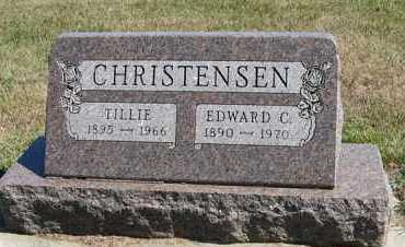 CHRISTENSEN, TILLIE - Turner County, South Dakota | TILLIE CHRISTENSEN - South Dakota Gravestone Photos