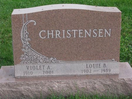 CHRISTENSEN, VIOLET A. - Turner County, South Dakota | VIOLET A. CHRISTENSEN - South Dakota Gravestone Photos
