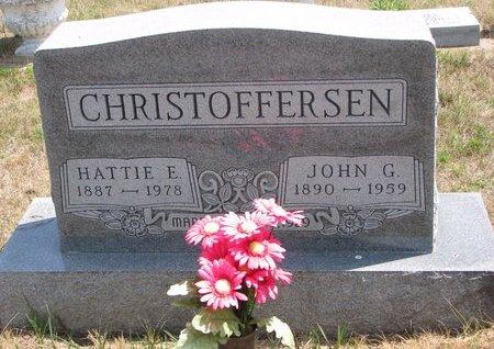 CHRISTOFFERSEN, HATTIE E. - Turner County, South Dakota | HATTIE E. CHRISTOFFERSEN - South Dakota Gravestone Photos