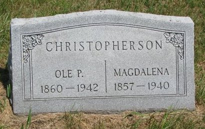 CHRISTOPHERSON, MAGDALENA - Turner County, South Dakota | MAGDALENA CHRISTOPHERSON - South Dakota Gravestone Photos