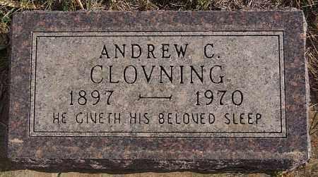 CLOVNING, ANDREW C - Turner County, South Dakota | ANDREW C CLOVNING - South Dakota Gravestone Photos