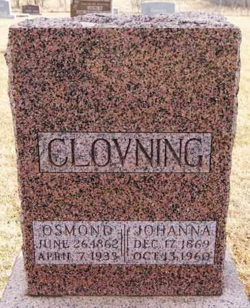 CLOVNING, JOHANNA - Turner County, South Dakota | JOHANNA CLOVNING - South Dakota Gravestone Photos