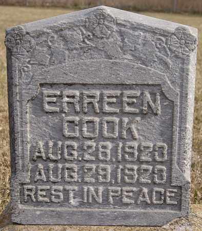 COOK, ERREEN - Turner County, South Dakota   ERREEN COOK - South Dakota Gravestone Photos