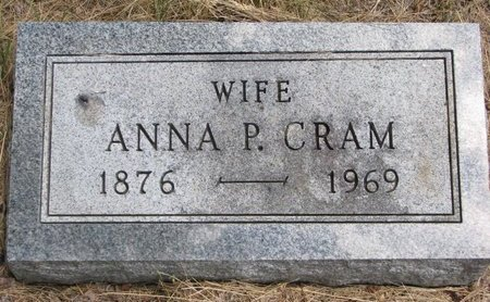 CRAM, ANNA P. - Turner County, South Dakota | ANNA P. CRAM - South Dakota Gravestone Photos