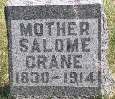 COLLINS CRANE, SALOME - Turner County, South Dakota | SALOME COLLINS CRANE - South Dakota Gravestone Photos