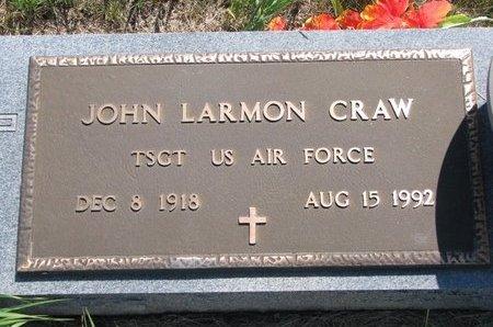 CRAW, JOHN LARMON - Turner County, South Dakota | JOHN LARMON CRAW - South Dakota Gravestone Photos