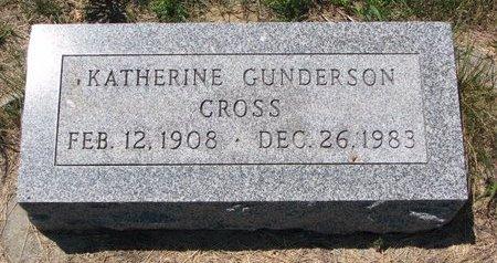 GUNDERSON CROSS, KATHERINE - Turner County, South Dakota | KATHERINE GUNDERSON CROSS - South Dakota Gravestone Photos