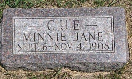 CUE, MINNIE JANE - Turner County, South Dakota | MINNIE JANE CUE - South Dakota Gravestone Photos