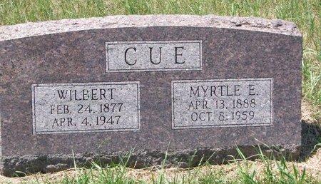 CUE, MYRTLE E. - Turner County, South Dakota | MYRTLE E. CUE - South Dakota Gravestone Photos