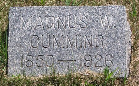 CUMMING, MAGNUS W. - Turner County, South Dakota | MAGNUS W. CUMMING - South Dakota Gravestone Photos