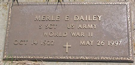 DAILEY, MERLE E. (MILITARY) - Turner County, South Dakota | MERLE E. (MILITARY) DAILEY - South Dakota Gravestone Photos