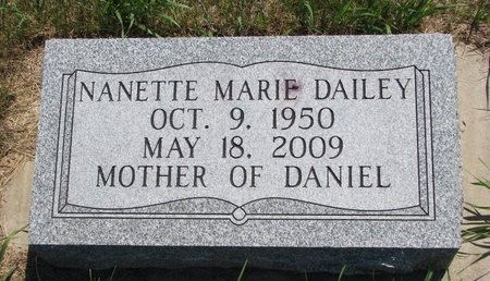 DAILEY, NANETTE MARIE - Turner County, South Dakota | NANETTE MARIE DAILEY - South Dakota Gravestone Photos