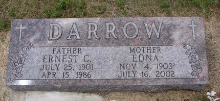 DARROW, EDNA - Turner County, South Dakota | EDNA DARROW - South Dakota Gravestone Photos