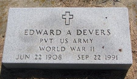 DEVERS, EDWARD A. (MILITARY) - Turner County, South Dakota | EDWARD A. (MILITARY) DEVERS - South Dakota Gravestone Photos