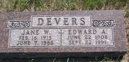 DEVERS, EDWARD A. - Turner County, South Dakota | EDWARD A. DEVERS - South Dakota Gravestone Photos
