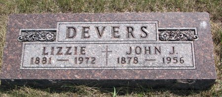 DEVERS, LIZZIE - Turner County, South Dakota | LIZZIE DEVERS - South Dakota Gravestone Photos