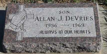 DEVRIES, ALLAN J - Turner County, South Dakota | ALLAN J DEVRIES - South Dakota Gravestone Photos