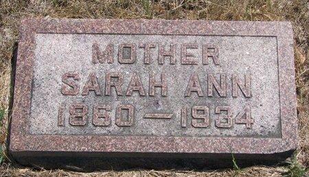 DEXTER, SARAH ANN - Turner County, South Dakota   SARAH ANN DEXTER - South Dakota Gravestone Photos