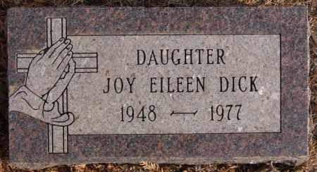 DICK, JOY EILEEN - Turner County, South Dakota   JOY EILEEN DICK - South Dakota Gravestone Photos