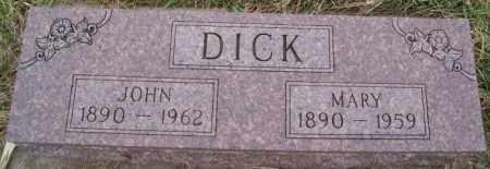 DICK, JOHN - Turner County, South Dakota   JOHN DICK - South Dakota Gravestone Photos