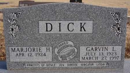 DICK, MARJORIE H - Turner County, South Dakota | MARJORIE H DICK - South Dakota Gravestone Photos