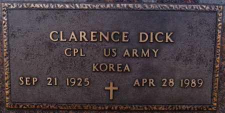 DICK, CLARENCE (KOREA) - Turner County, South Dakota | CLARENCE (KOREA) DICK - South Dakota Gravestone Photos