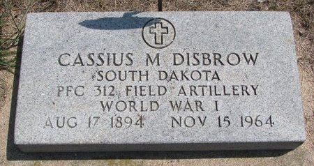 DISBROW, CASSIUS MARCELLUS - Turner County, South Dakota | CASSIUS MARCELLUS DISBROW - South Dakota Gravestone Photos