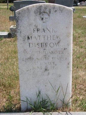 DISBROW, FRANK MATTHEW (MILITARY) - Turner County, South Dakota   FRANK MATTHEW (MILITARY) DISBROW - South Dakota Gravestone Photos