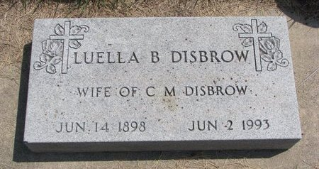 DISBROW, LUELLA BERGETHA - Turner County, South Dakota | LUELLA BERGETHA DISBROW - South Dakota Gravestone Photos