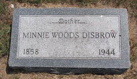 "WOODS DISBROW, LOVINA ""MINNIE"" - Turner County, South Dakota | LOVINA ""MINNIE"" WOODS DISBROW - South Dakota Gravestone Photos"