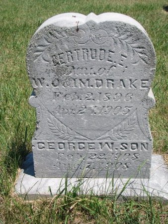 DRAKE, GERTRUDE E. - Turner County, South Dakota | GERTRUDE E. DRAKE - South Dakota Gravestone Photos